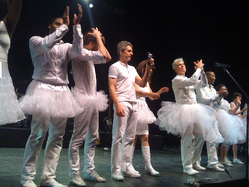 David Byrne and band at Olympia