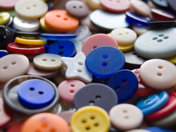Pile of buttons. Photo by s.red@flickr.