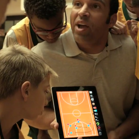 iPad basketball ad