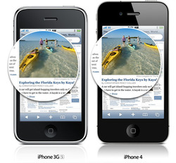 iPhone 4 vs iPhone 3GS display