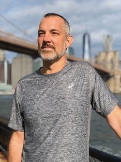Josh Clark runs in Brooklyn, NY. Photo by Richard Numeroff.