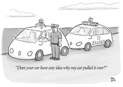 New Yorker: smart police car