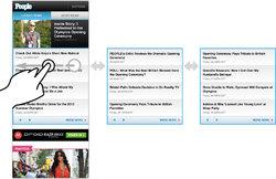 Carousel treatment on m.people.com homepage