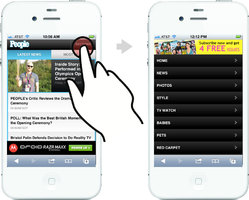 Navigation treatment for m.people.com