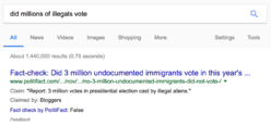 Politifacts search result: did millions of illegals vote?
