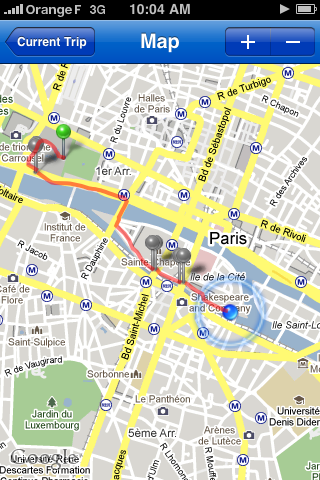 RunKeeper map screenshot