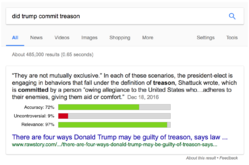 Google featured snippet with ratings