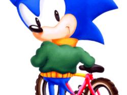 Sonic and bike