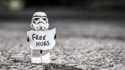 Lego stormtrooper free hugs