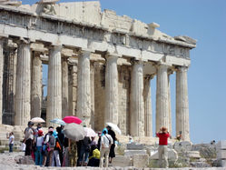 Acropolis - Parthenon umbrellas