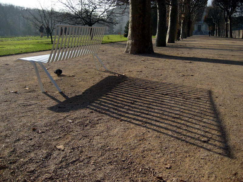 Jardin des Plantes - New Bench