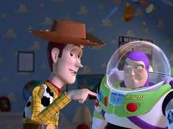 Woody and Buzz of Toy Story