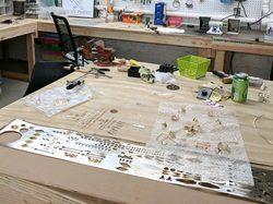 Melissa Frost's jewelry studio